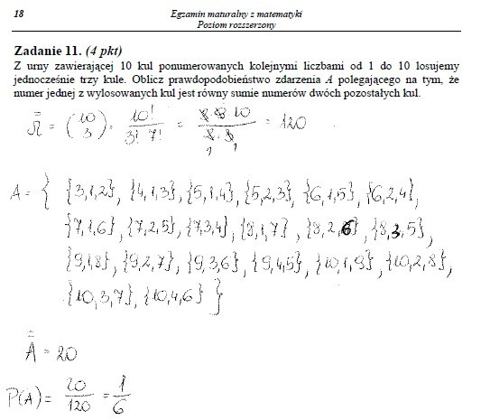 Egzamin maturalny z matematyki - poziom rozszerzony /INTERIA.PL