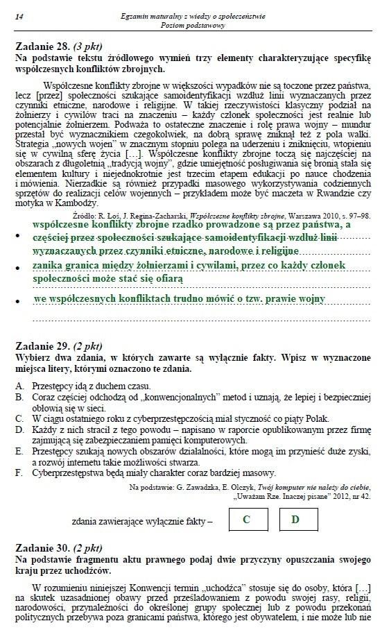 Egzamin maturalny z WOS-u - poziom podstawowy. Arkusz i odpowiedzi /INTERIA.PL
