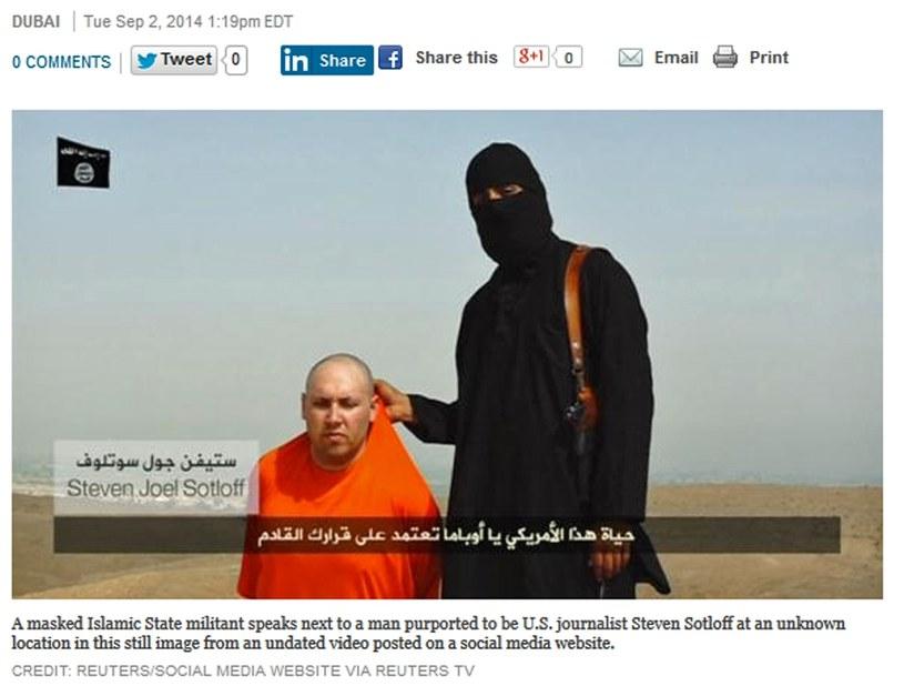 Egzekucja na dziennikarzu, fot. reuters.com /