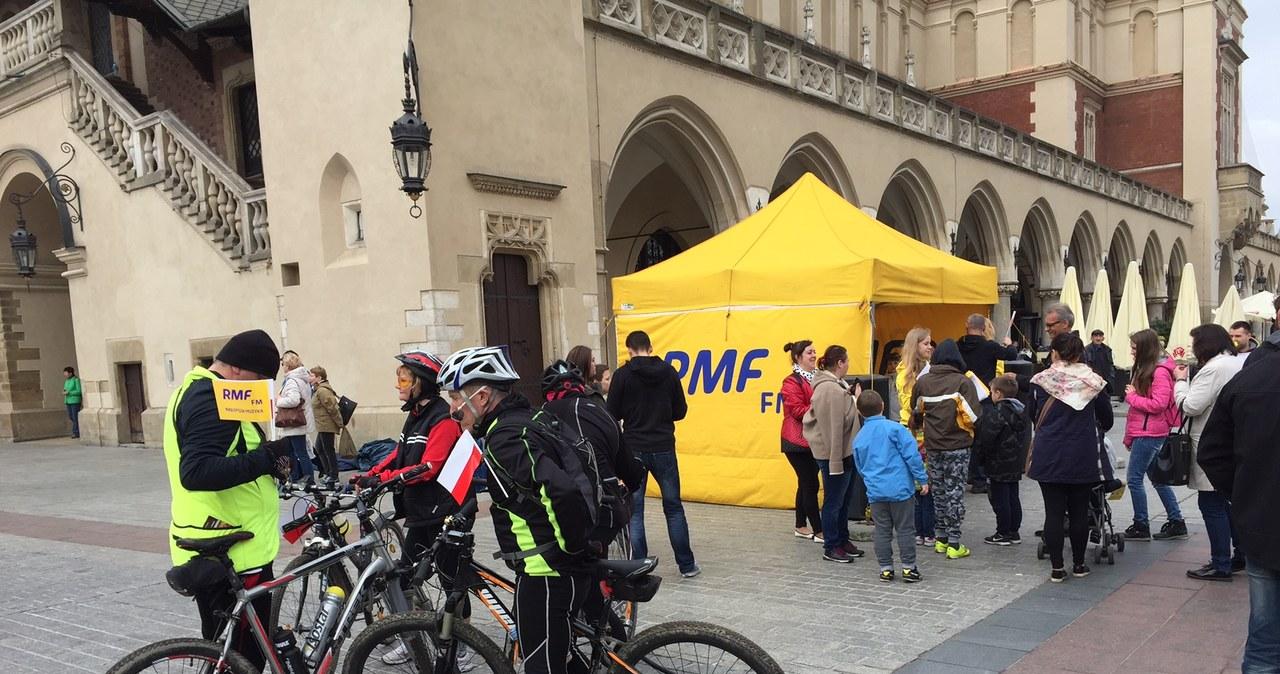 Ekipa RMF FM na Rynku Głównym w Krakowie