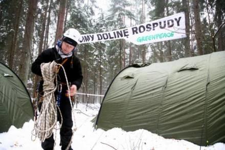 Ekolodzy nadal protestują,  fot. Piotr Mecik /Agencja SE/East News
