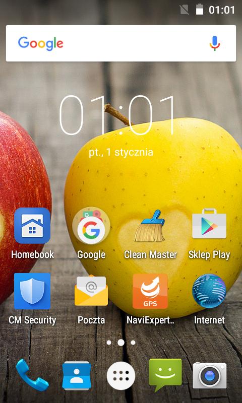 Ekran główny myPhone C-Smart IIIS /materiały prasowe