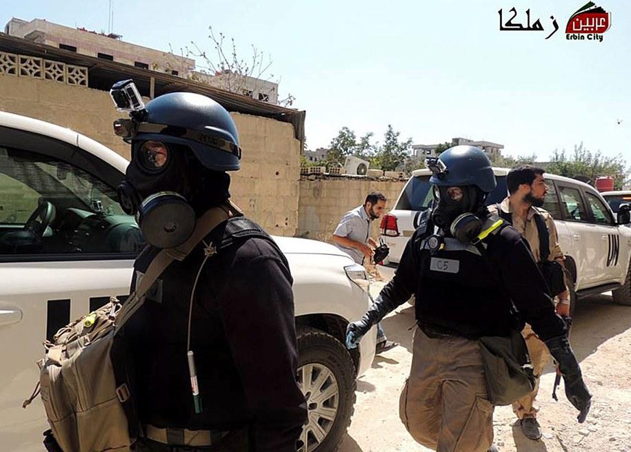Eksperci ONZ wyjechali z Damaszku /LOCAL COMMITEE OF ARBEEN / HANDOUT    /PAP/EPA