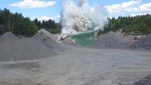Eksplozja ponad pięciu ton dynamitu