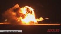 Eksplozja rosyjskiego bombowca na pasie startowym