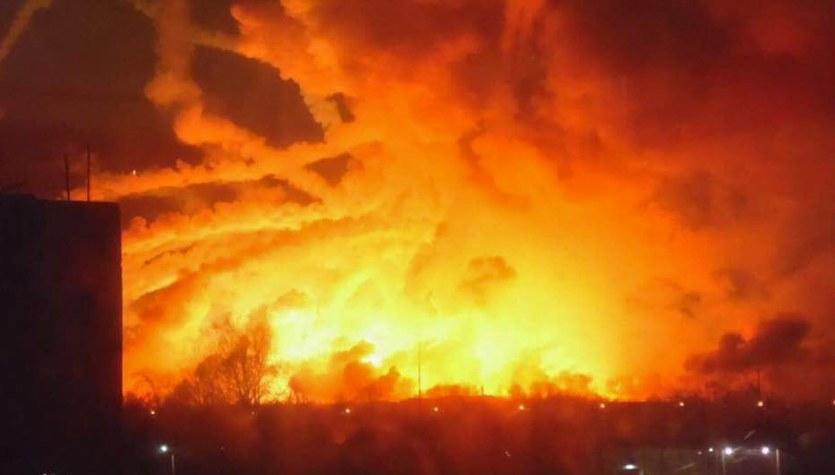 Eksplozje w największym magazynie amunicji na Ukrainie