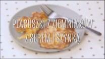 Ekspresowe placuszki z ziemniaków z serem i szynką