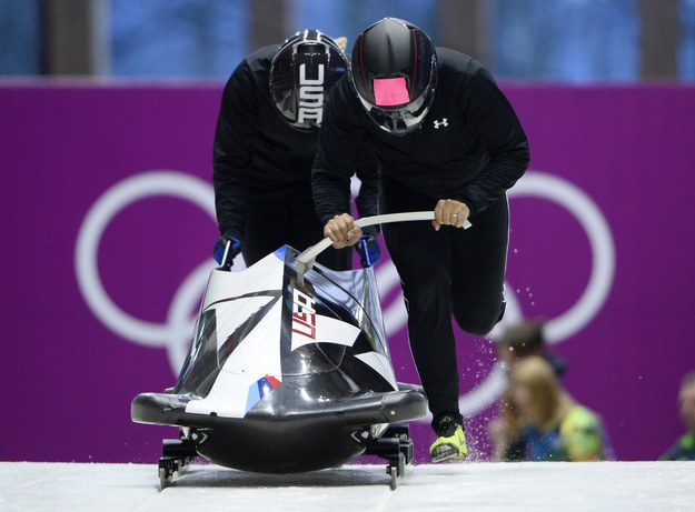Elana Meyers i Lauryn Williams /AFP