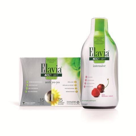 ELAVIA  Kuracja z wyciągiem  z m.in. guarany, fig  i zielonej herbaty, przyspiesza spalanie tłuszczu, ułatwia pozbycie się toksyn, 54 zł/500 ml. /Mat. Prasowe
