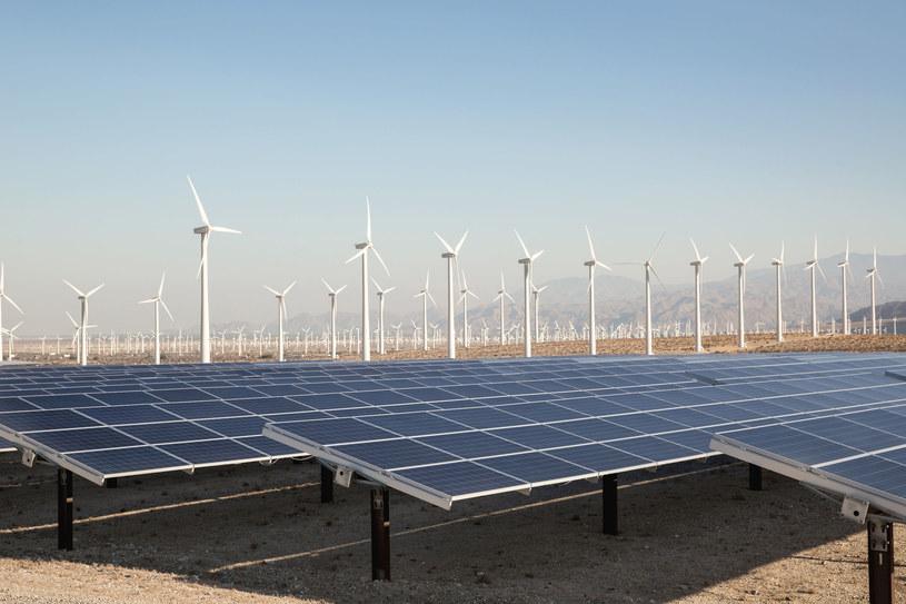 Elektrownie słoneczne i wiatrowe będą zasilać Google /123RF/PICSEL