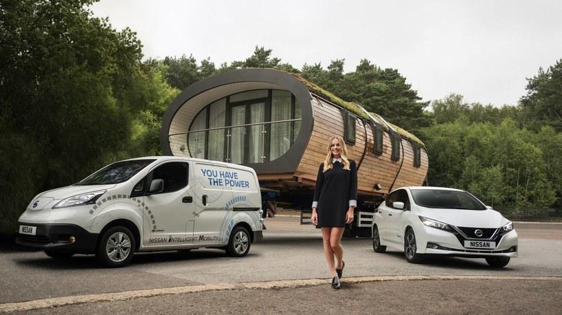 Elektryczny Nissan i mobilny dom /