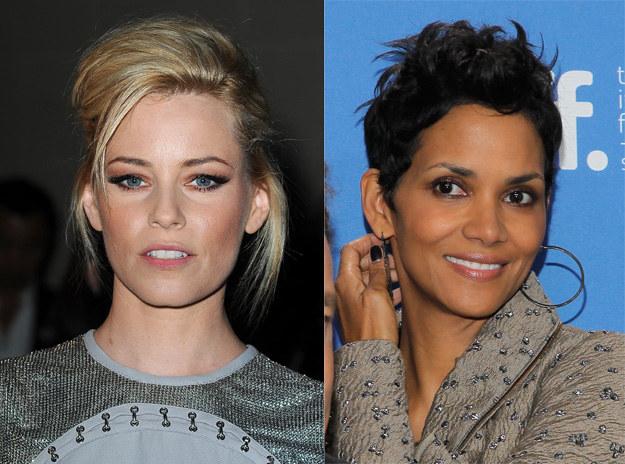 Elizabeth Banks i Halle Berry nie boją się odważnych fryzur /Getty Images