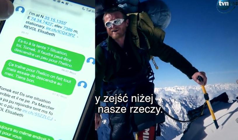 Elizabeth Revol udzieliła wywiadu. Opowiedziała o Tomaszu Mackiewiczu, pokazała też wiadomości, które wysyłała z Nanga Parbat /TVN24