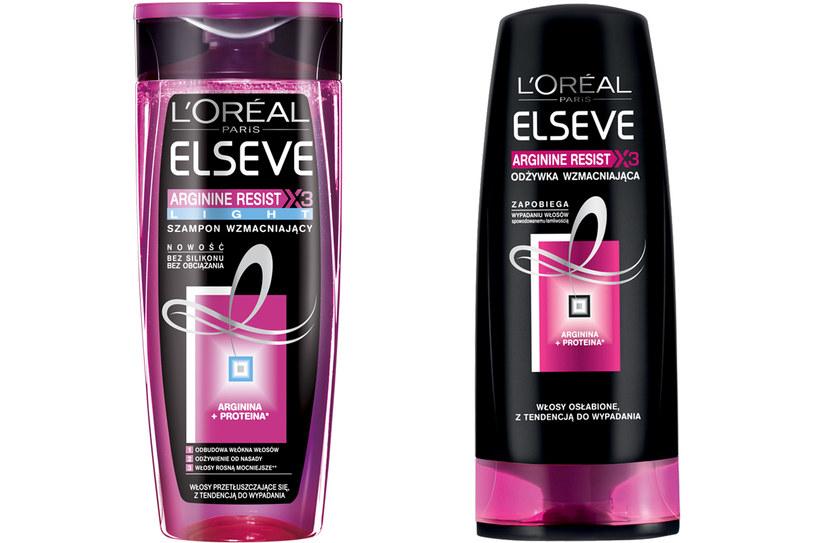 ELSEVE ARGININE RESIST x3 LIGHT ekspresowa odżywka do włosów, Szampon wzmacniający /materiały prasowe