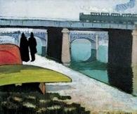 Émile Bernard, Żelazny most w Asničres, 1887 /Encyklopedia Internautica