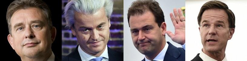 Emile Roemer, Geert Wilders,  Lodewijk Asscher, Mark Rutte /AFP