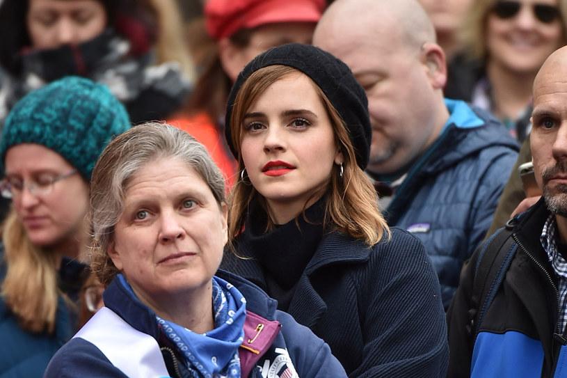 Emma Watson na marszu kobiet w Waszyngtonie /Getty Images