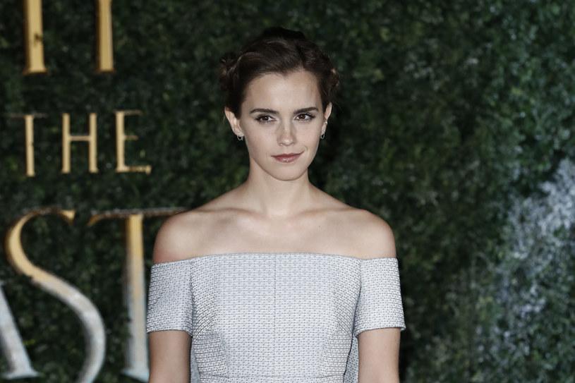 """Emma Watson na premierze """"Pieknej i bestii"""" w Londynie /Getty Images"""