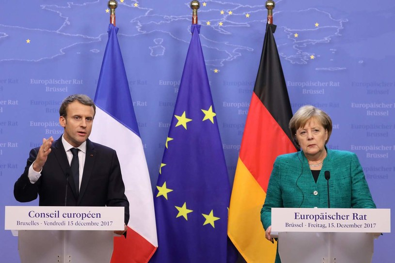 Emmanuel Macron i Angela Merkel /AFP