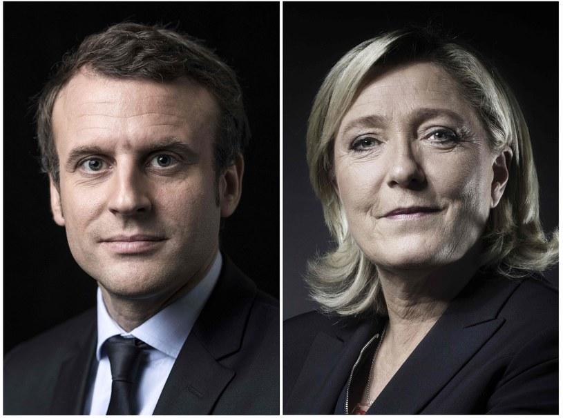Emmanuel Macron i Marine Le Pen /JOEL SAGET /East News