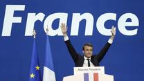 Emmanuel Macron po pierwszej turze wyborów (AP/x-news)