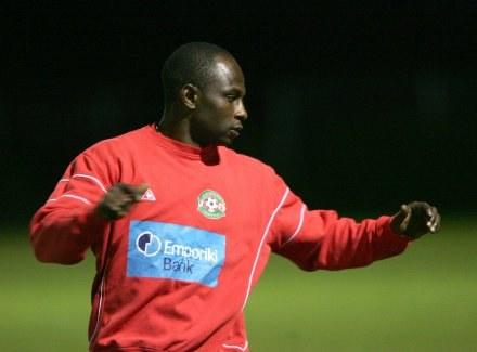 Emmanuel Olisadebe nie bedzie miło wspominał pobytu w klubie Skoda Xanthi Fot. Jerzy Kleszcz /Agencja Przegląd Sportowy