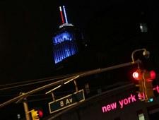 Empire State Building w kolorze demokratów