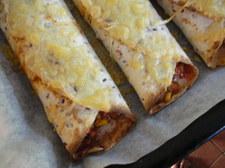 Enchiladas (w wersji wegetariańskiej lub mięsnej)