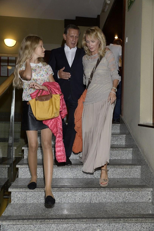 Englertowie z córką /- /East News
