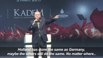 Erdogan porównał Niemcy do kraju totalitarnego