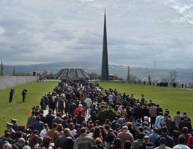 Erewań, Armenia. Uroczystości upamiętniające jedną z rocznic rzezi Ormian /ITAR-TASS/PHOTOLURE-ITAR-TASS   /PAP
