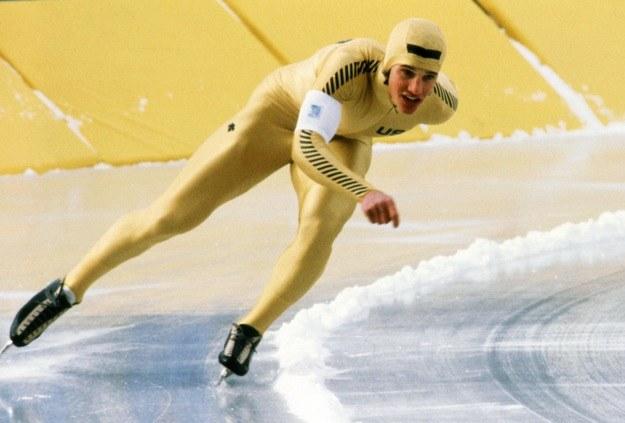 Eric Heiden zdobył w Lake Placid pięć złotych medali. /AFP