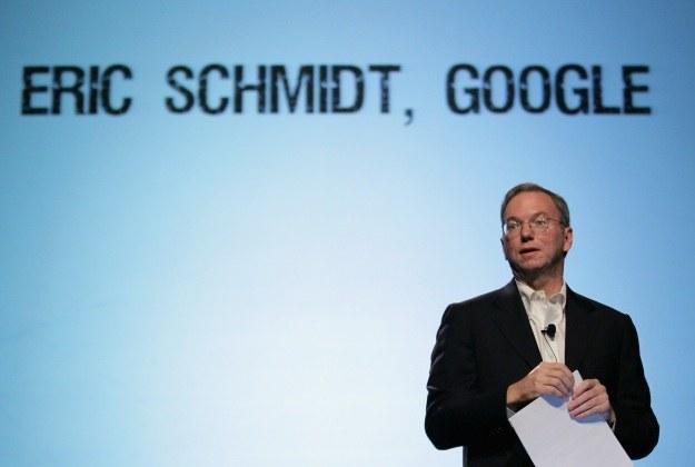 Eric Schmidt miał talent do wypowiedzi, które bulwesowały użytkowników Google... /AFP