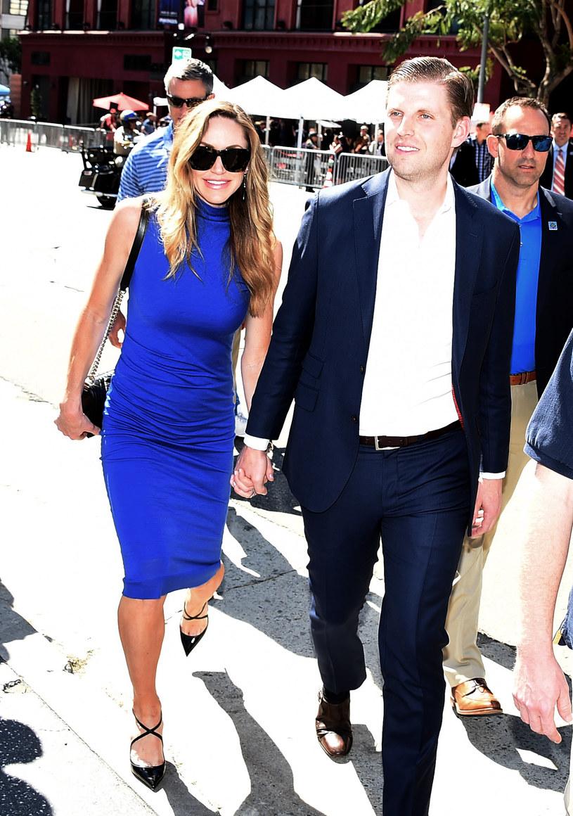 Eric Trump i jego żona doczekali się pierwszego dziecka /Kevin Winter /Getty Images