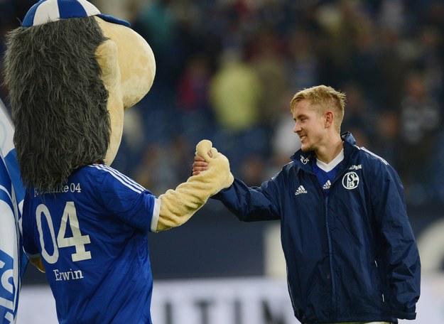 Erwin - maskotka Schalke /AFP