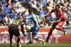 Espanyol Barcelona - Sevilla FC 1-0. Krychowiak z kolegami na trybunach