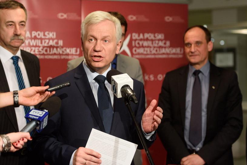 Eurodeputowany, prezes Prawicy Rzeczpospolitej Marek Jurek /Jakub Kaczmarczyk /PAP