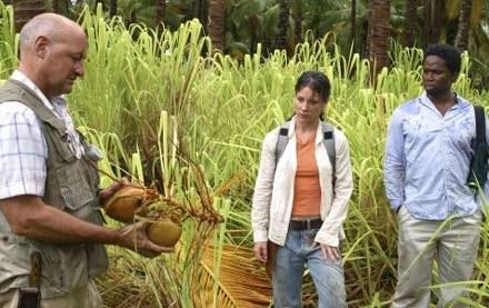 """Evangeline Lilly i Harold Perrineau - kadr z serialu """"Zagubieni"""" /"""