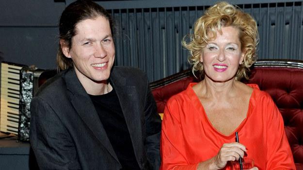 Ewa Kasprzyk z przyjacielem Jakubem Michalskim /fot  /Agencja W. Impact