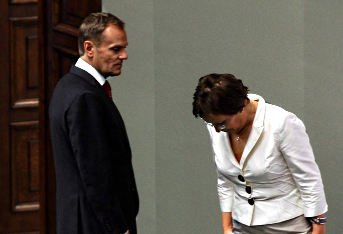 Ewa Kopacz i Donald Tusk /Mariusz Grzelak /Agencja SE/East News