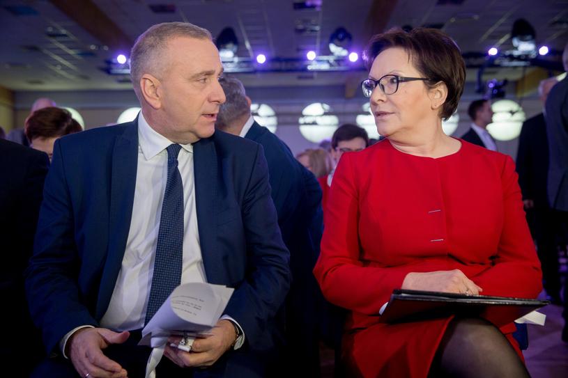 Ewa Kopacz i Grzegorz Schetyna w czasie Rady Krajowej PO, styczeń 2017 r. /Andrzej Iwańczuk /Reporter