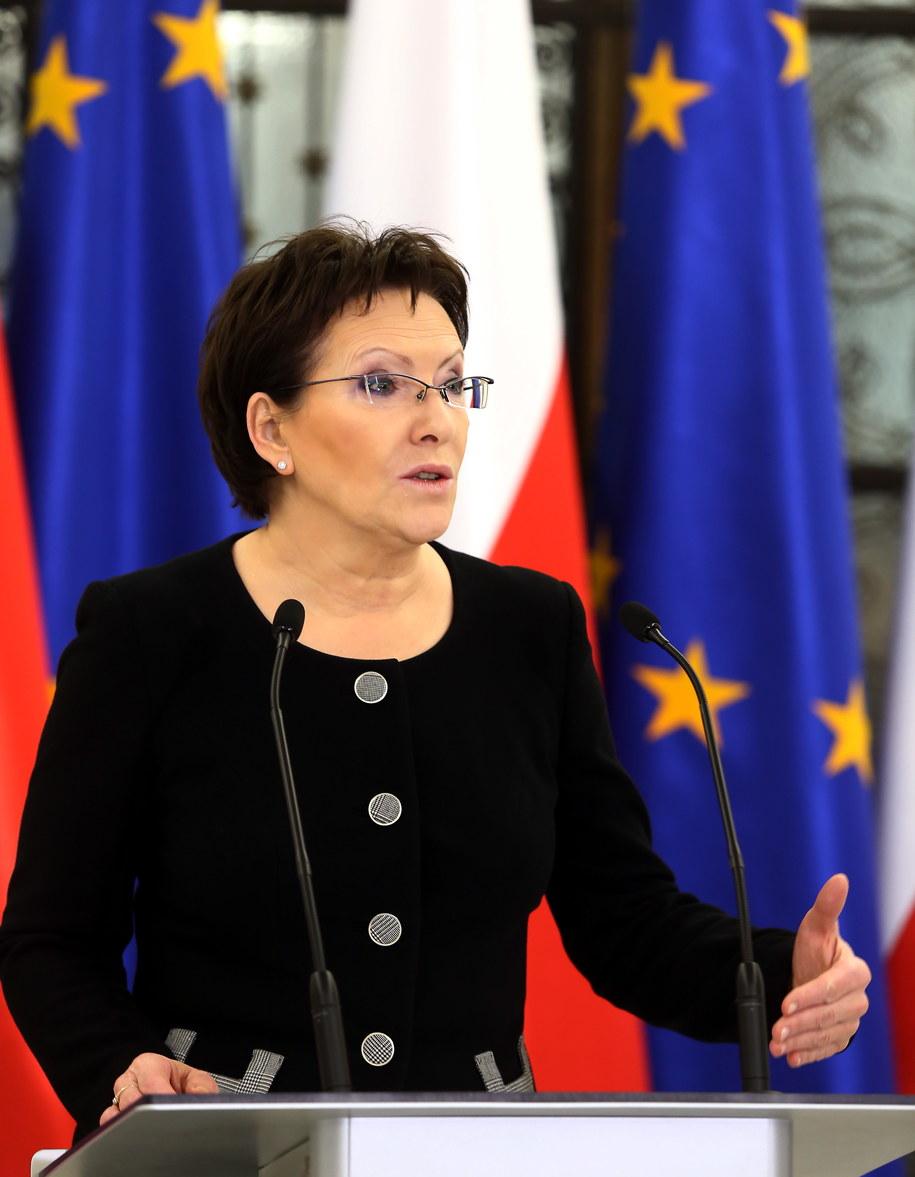 Ewa Kopacz na konferencji prasowej w Sejmie /Tomasz Gzell /PAP