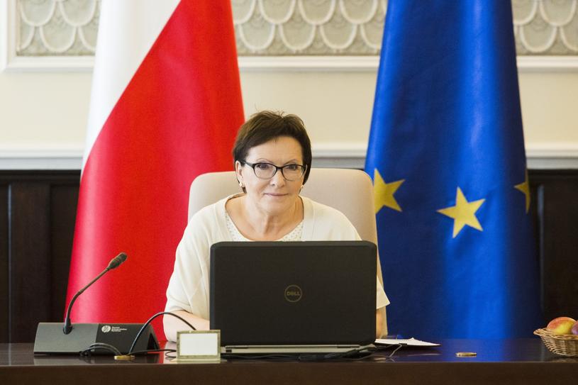 Ewa Kopacz prowadzi posiedzenie rządu, sierpień 2018 r. /Andrzej Hulimka  /Reporter