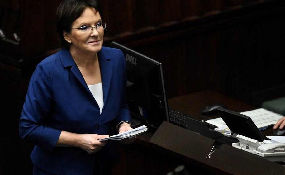 Ewa Kopacz uzyskała w Sejmie wotum zaufania /Radek Pietruszka /PAP