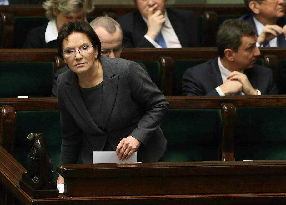 Ewa Kopacz /Tomasz Gzell /PAP