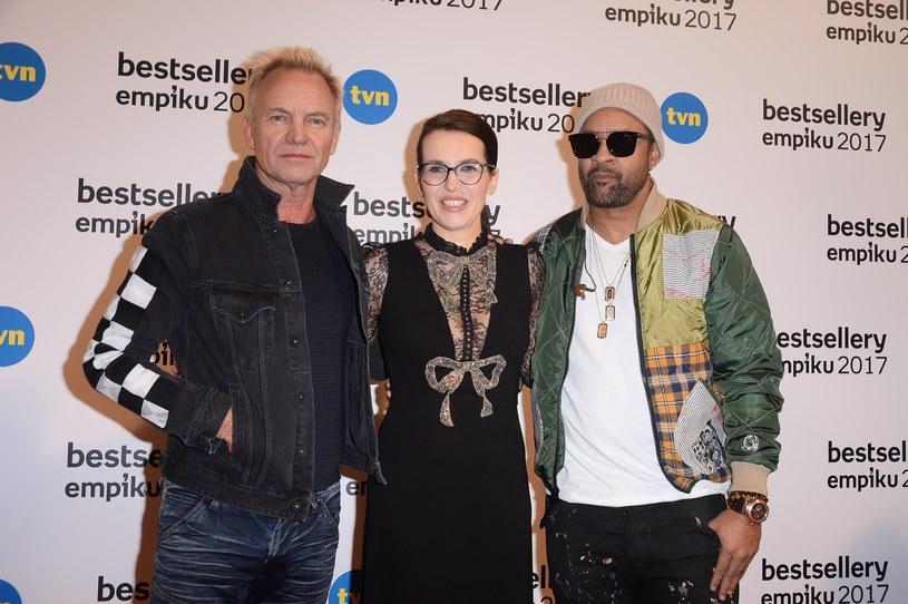 Ewa Schmidt-Belcarz - prezes spółki Empik, Sting i Shaggy /Tricolors /East News