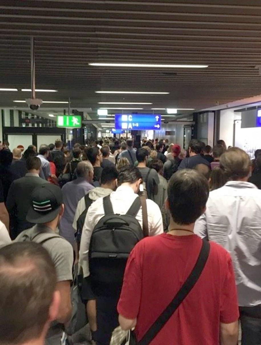 Ewakuacja lotniska we Frankfurcie /STRINGER /PAP/EPA