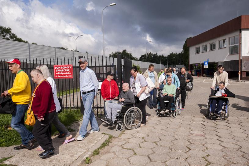 Ewakuacja mieszkańców Białegostoku /Michał Kość /Agencja FORUM