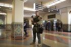 Ewakuacja samolotu na lotnisku w Los Angeles