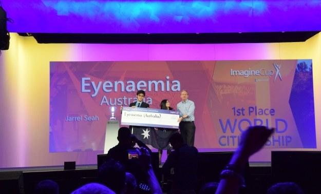 EYENAEMIA - zwycięzcy Microsoft Imagine Cup 2014 /INTERIA.PL